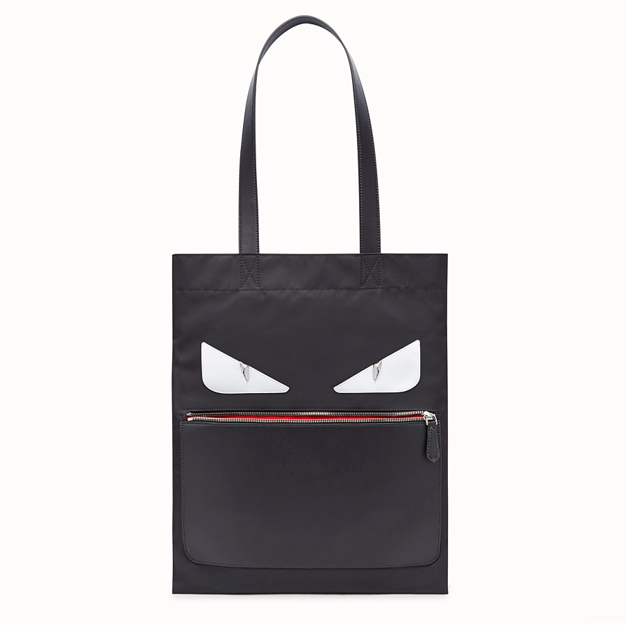 FENDI SLIM TOTE - Black nylon tote - view 1 detail