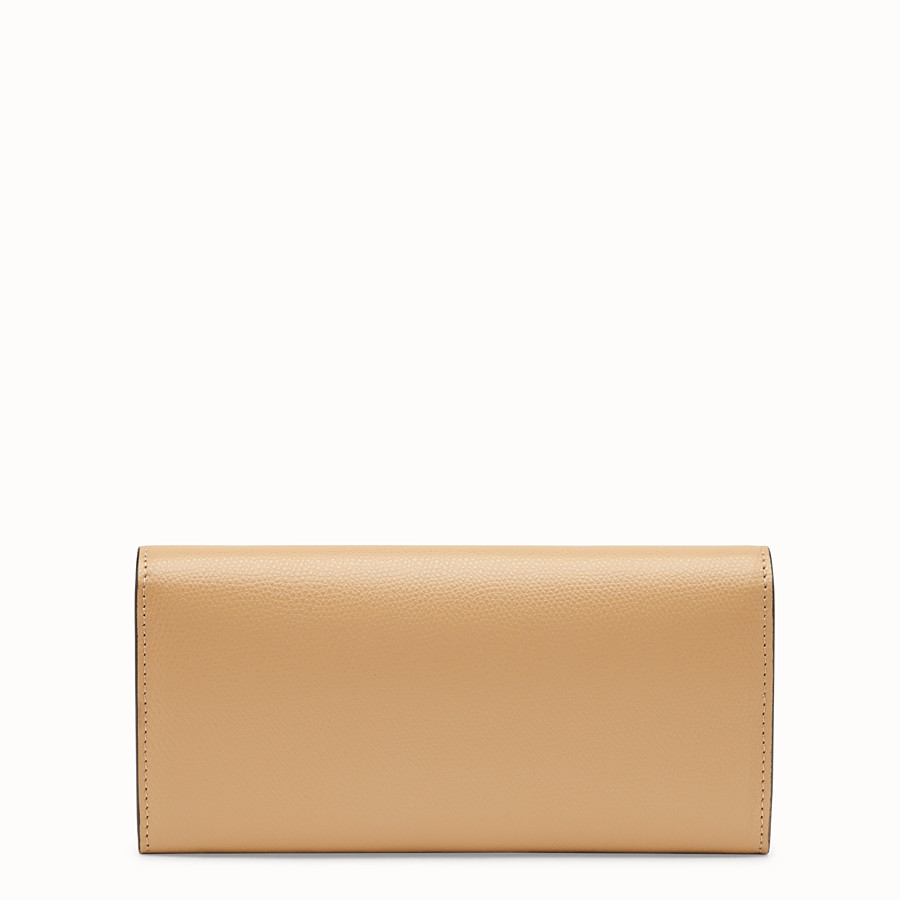 FENDI CONTINENTAL WITH CHAIN - Brown leather wallet - view 3 detail