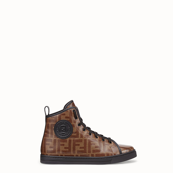FENDI SNEAKERS - Multicolor fabric high-tops - view 1 small thumbnail