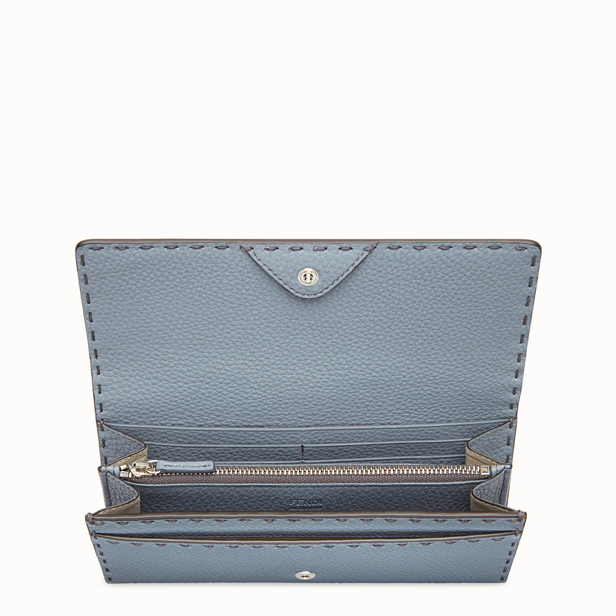 FENDI CONTINENTAL - Pale blue leather wallet - view 4 detail