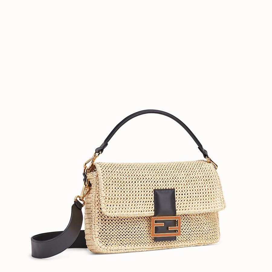 FENDI BAGUETTE LARGE - Natural straw bag - view 3 detail