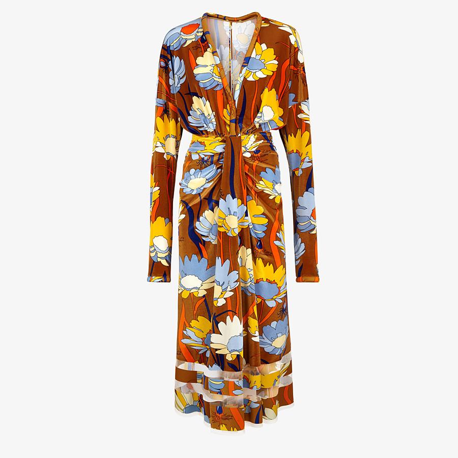 FENDI DRESS - Multicolor chenille dress - view 1 detail