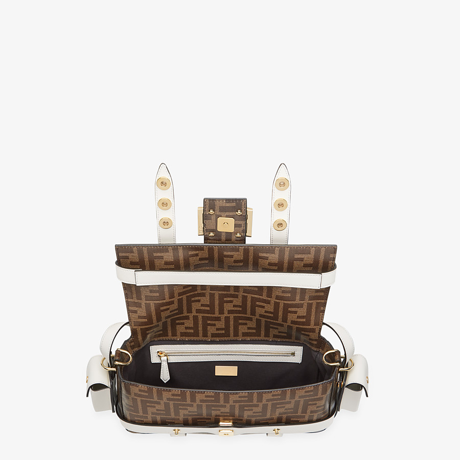 FENDI BAGUETTE CAGE - Brown fabric bag - view 5 detail