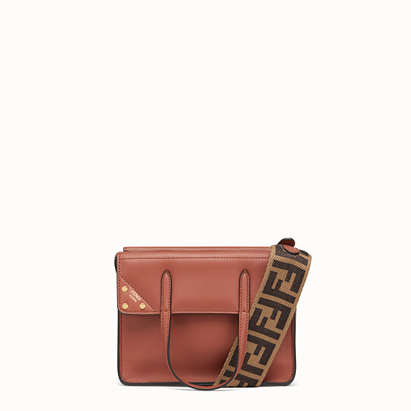 FENDI PETIT FENDI FLIP - Mini sac en cuir rouge - view 1 small thumbnail
