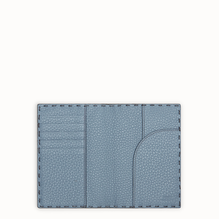 FENDI PASSPORT COVER - Pale blue leather passport cover - view 4 detail