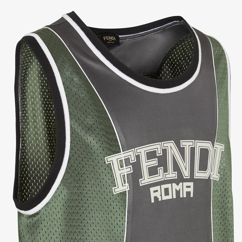 FENDI TANK TOP - Green tech mesh knit - view 3 detail