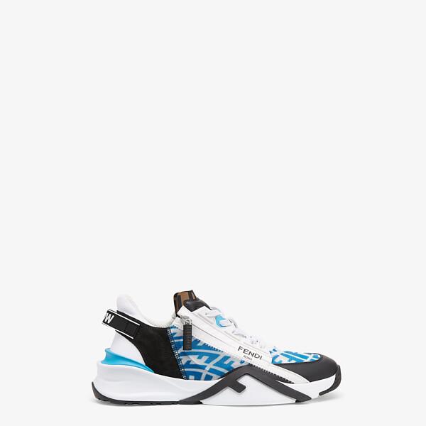 Chaussures basses en nylon technique bleu