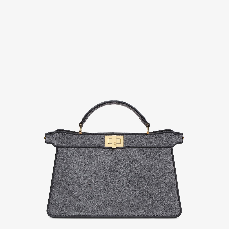FENDI PEEKABOO I SEE U EAST-WEST - Gray flannel bag - view 1 detail