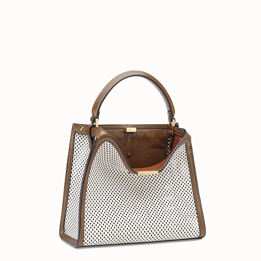 FENDI PEEKABOO X-LITE MEDIUM - Tasche aus Leder in Weiß - view 4 detail