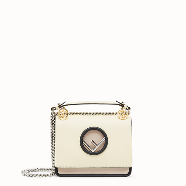 FENDI KAN I LOGO SMALL - Multicolour leather minibag - view 1 small thumbnail