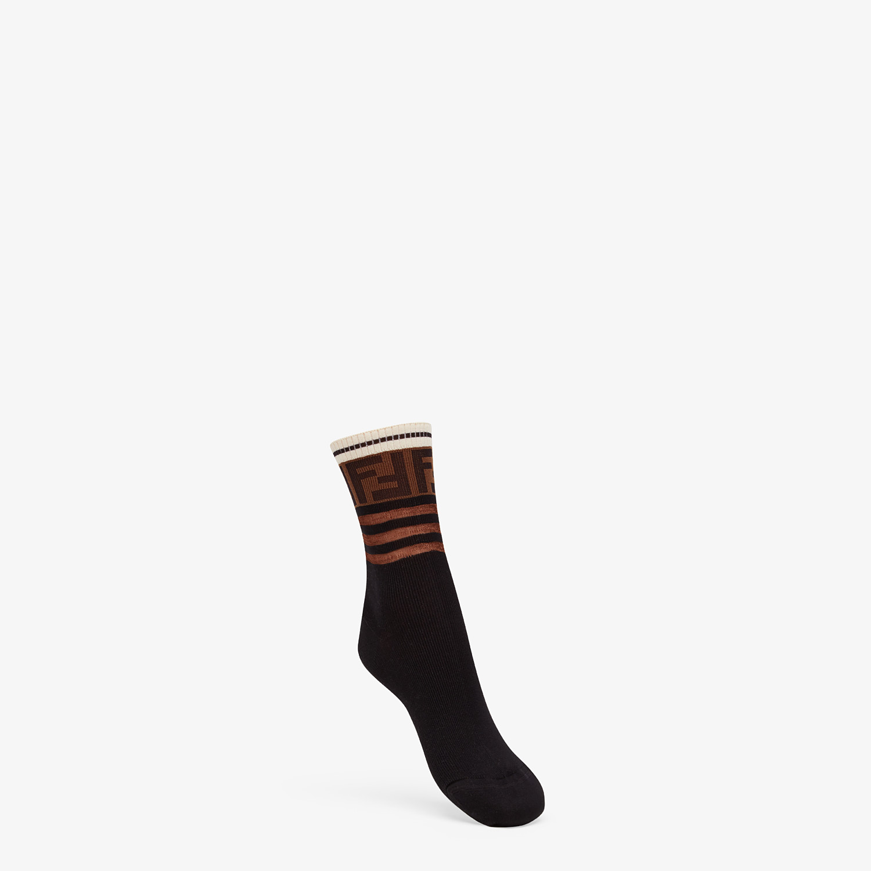 FENDI SOCKS - Multicolor cotton socks - view 1 detail