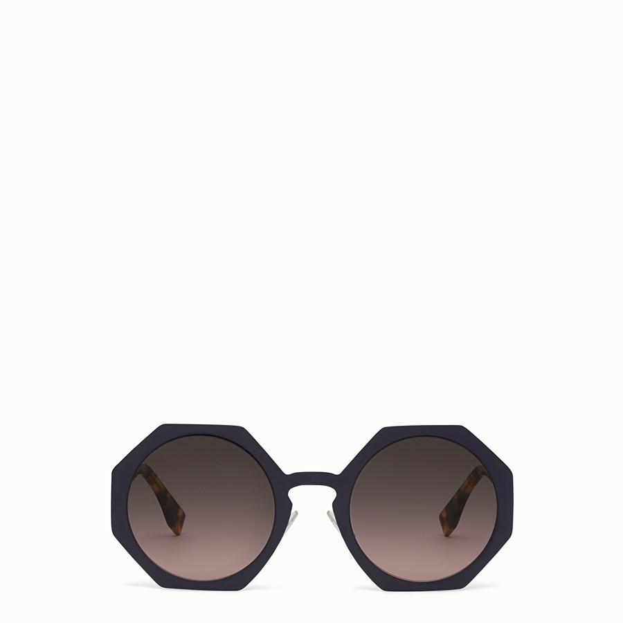 FENDI FENDI FACETS - Lunettes de soleil bleues - view 1 detail