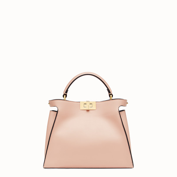 FENDI PEEKABOO ICONIC ESSENTIALLY - Sac en cuir rose - view 1 small thumbnail