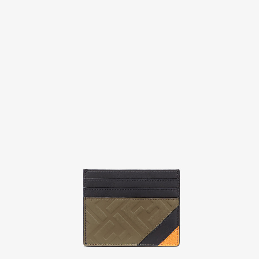 FENDI CARD HOLDER - Brown leather cardholder - view 1 detail