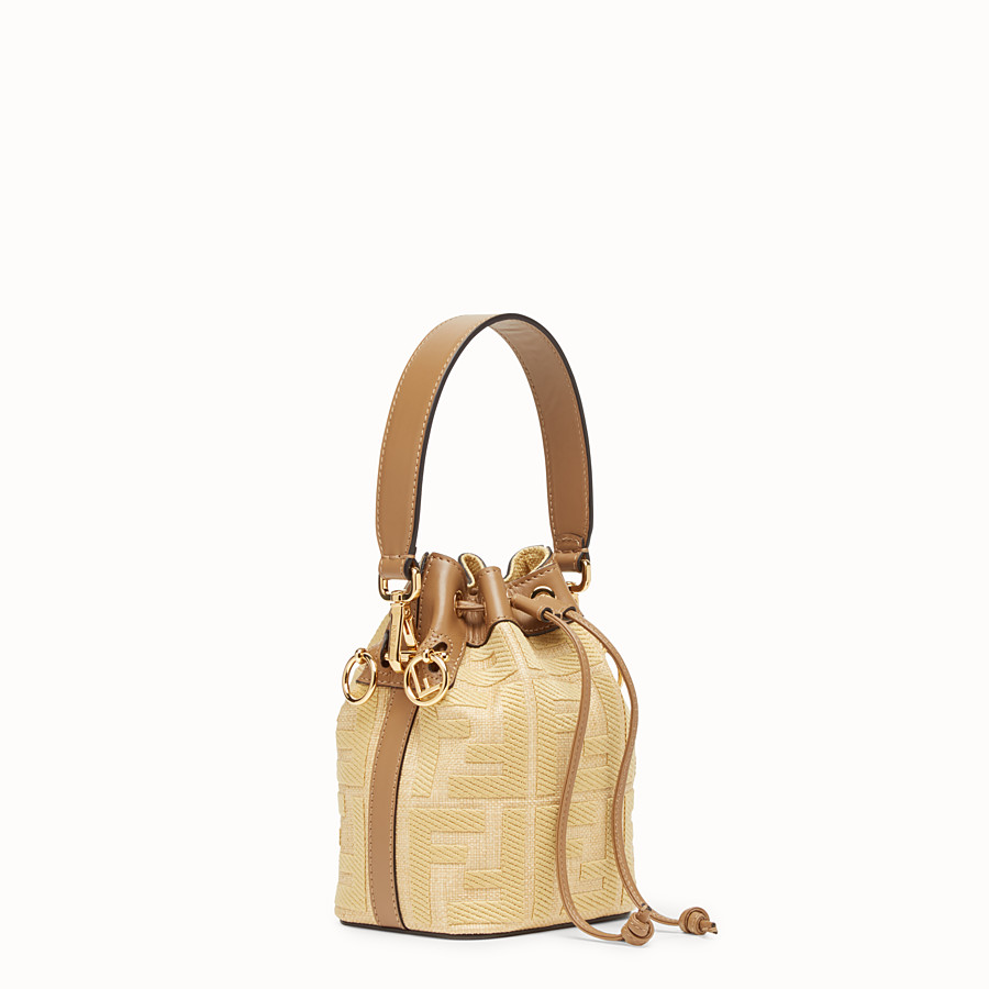 FENDI MON TRESOR - Beige raffia mini bag - view 3 detail