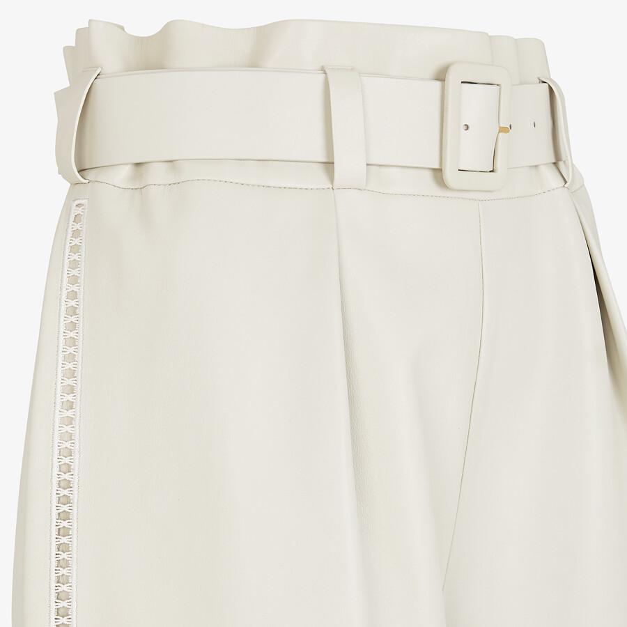 FENDI PANTS - White nappa leather pants - view 3 detail