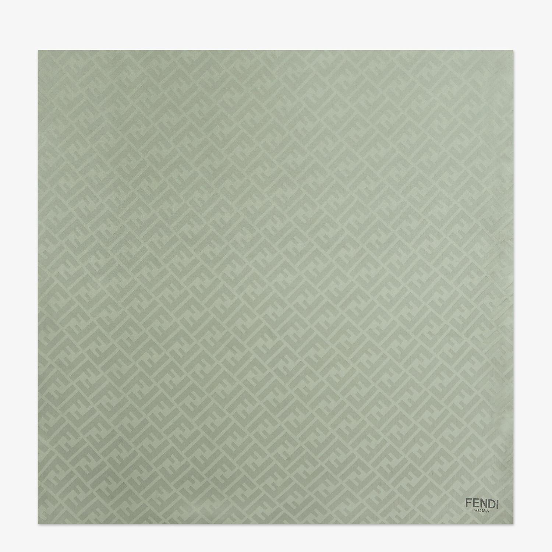 FENDI STOLE - Dégradé stole in green silk - view 1 detail