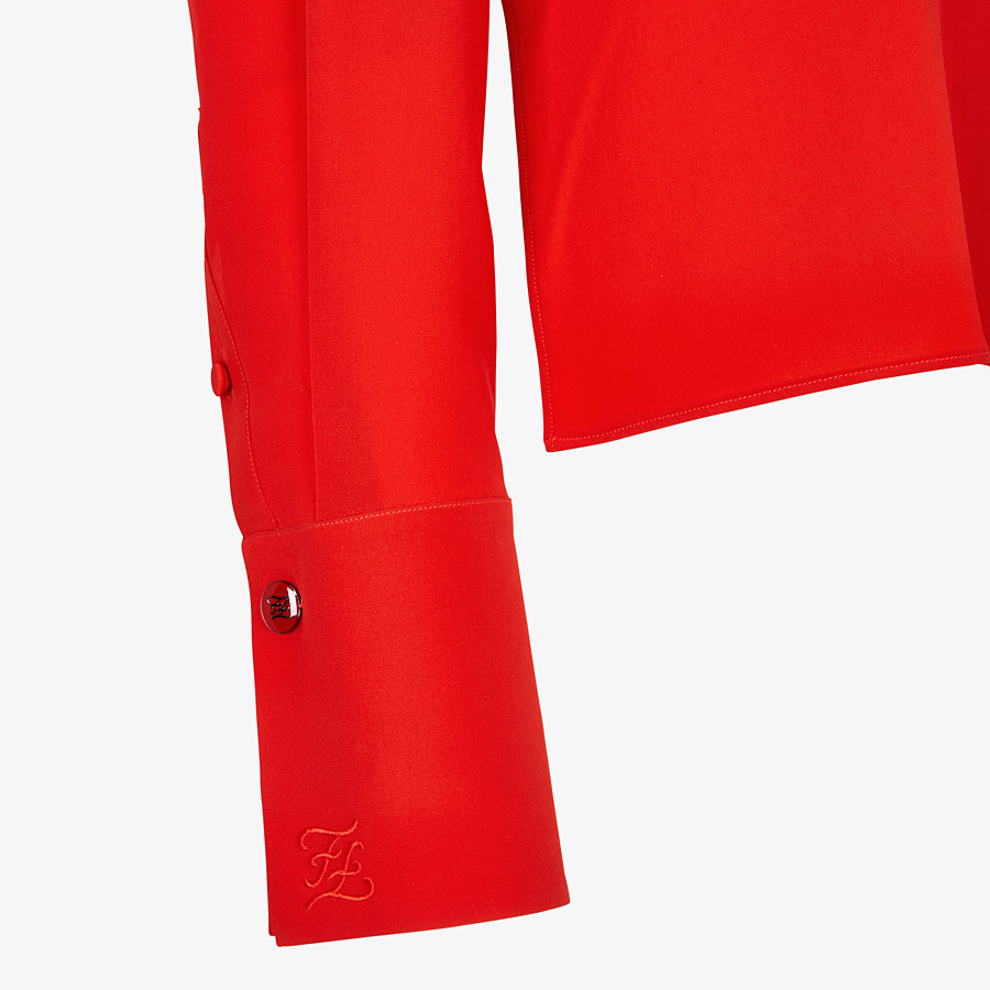 FENDI HEMD - Bluse aus Crêpe de Chine in Rot - view 3 detail