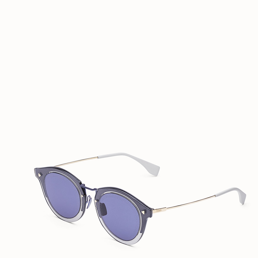 FENDI FF - Blue and gold sunglasses - view 2 detail