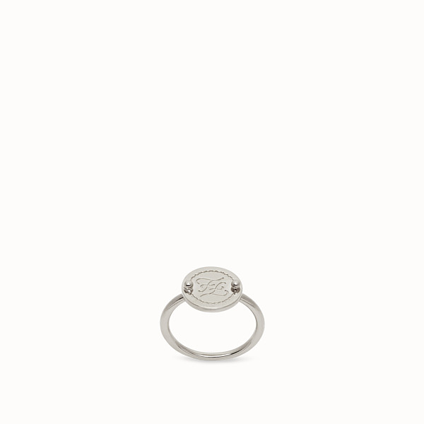FENDI KARLIGRAPHY RING - Palladium-coloured ring - view 1 small thumbnail