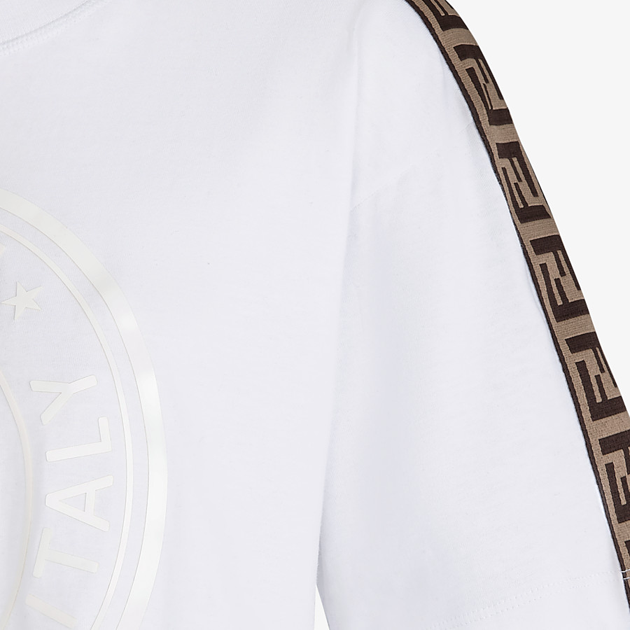 FENDI T-SHIRT - White jersey T-shirt - view 3 detail