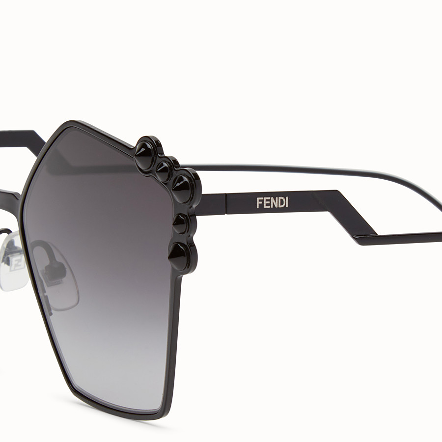 FENDI CAN EYE - Schwarze Sonnenbrille - view 3 detail