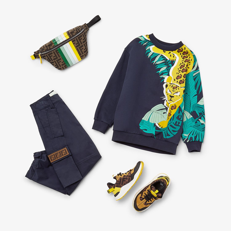 FENDI JUNIOR HOSE - Junior-Hose aus Baumwolle in Marineblau - view 4 detail
