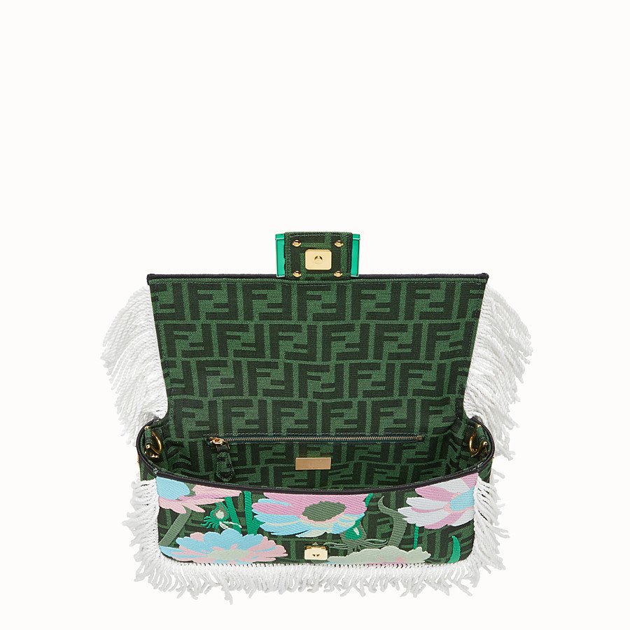 FENDI BAGUETTE - Green fabric bag - view 5 detail