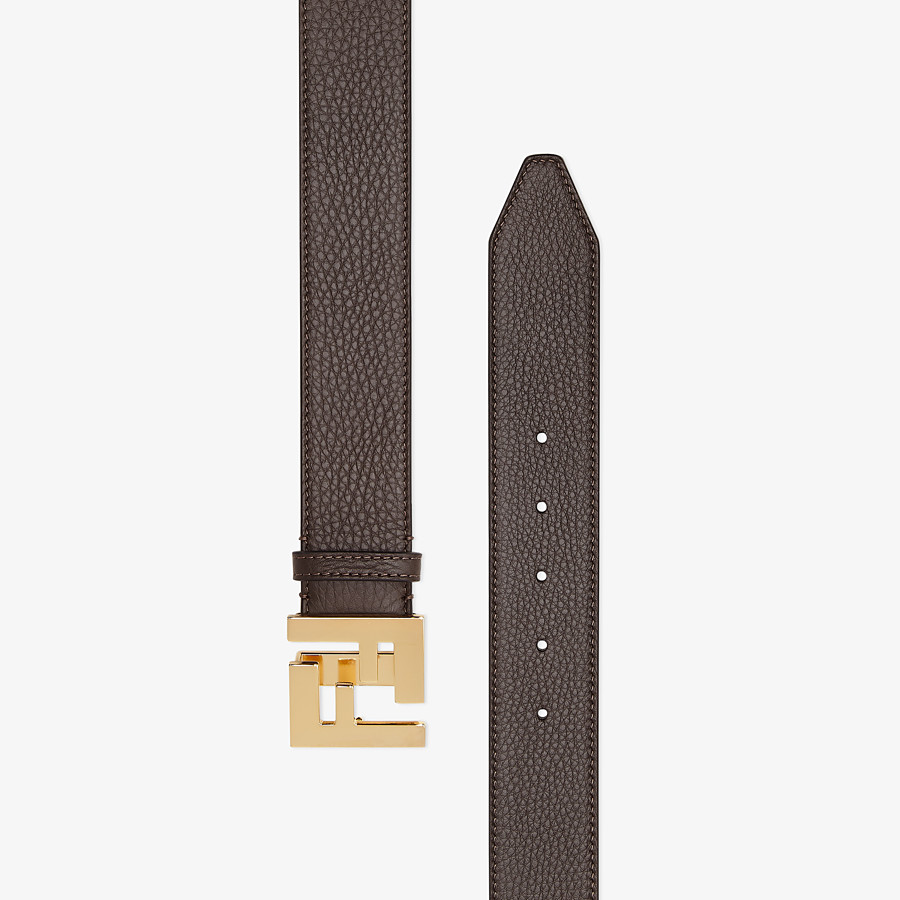 FENDI BELT - Brown Cuoio Romano leather belt - view 2 detail