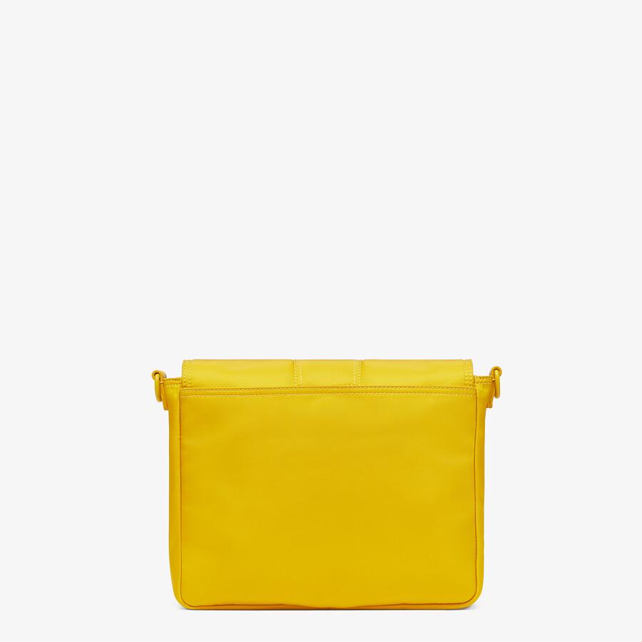 FENDI BAGUETTE MESSENGER BAG MEDIUM - Yellow nylon bag - view 3 detail