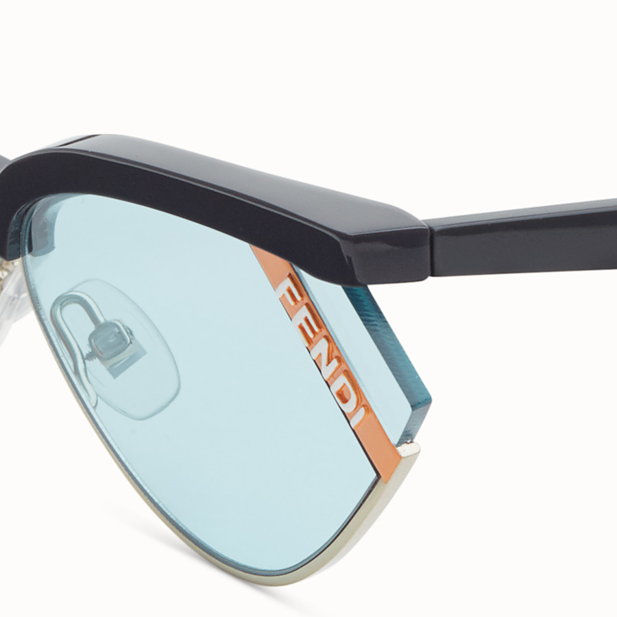FENDI GENTLE FENDI - Grey and light blue sunglasses - view 3 detail