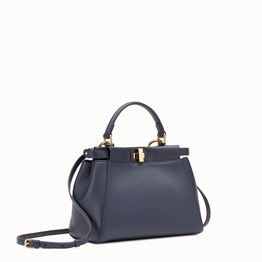 FENDI PEEKABOO MINI - Midnight-blue leather bag - view 2 detail