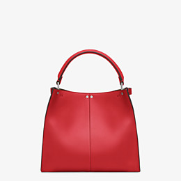 FENDI PEEKABOO X-LITE MEDIUM - Tasche aus Leder in Rot - view 5 thumbnail
