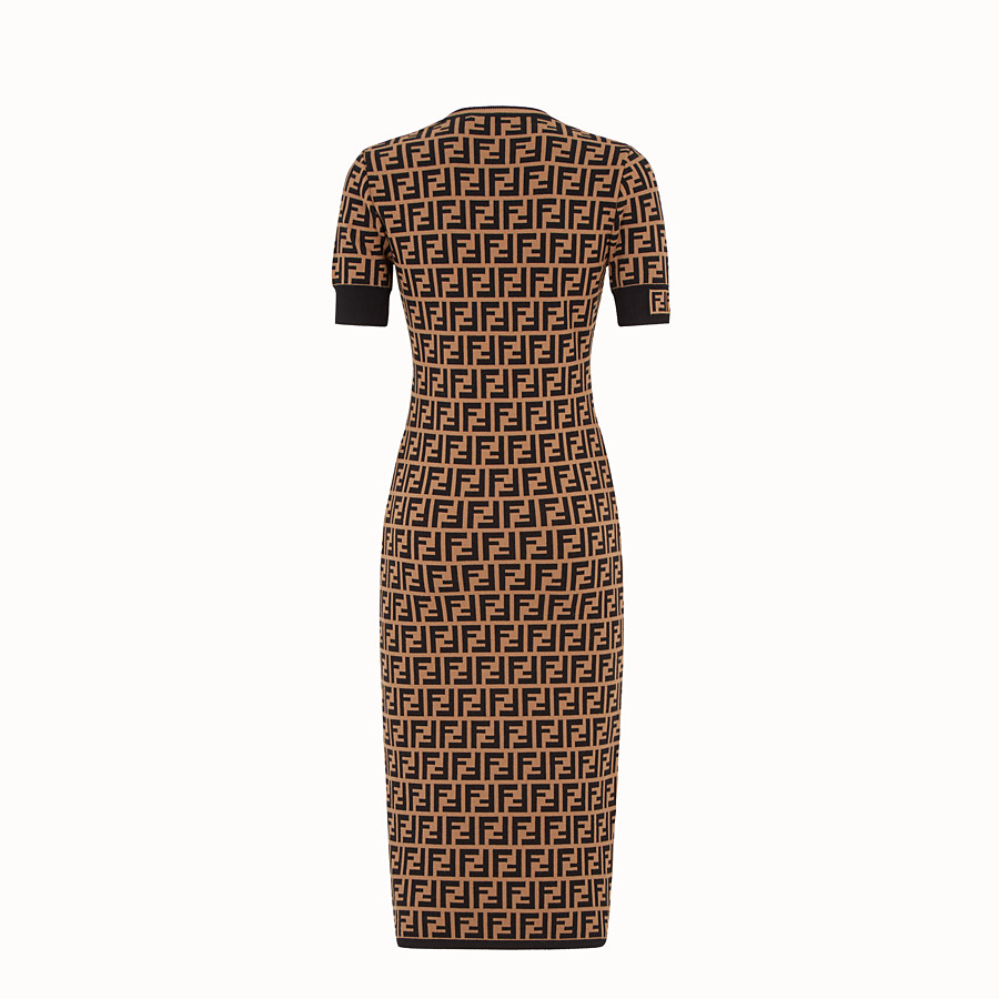 FENDI DRESS - Multicolor fabric dress - view 2 detail
