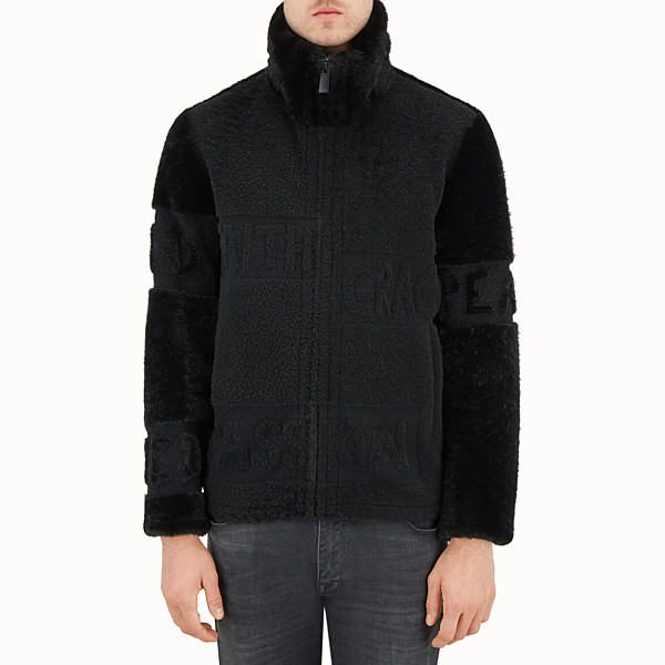 FENDI SHEARLING - Blouson in black shearling. - view 1 small thumbnail