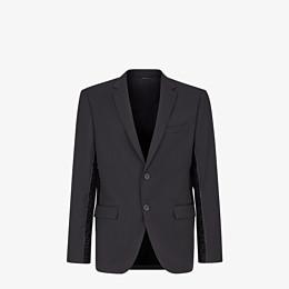 FENDI JACKET - Black wool blazer - view 1 thumbnail
