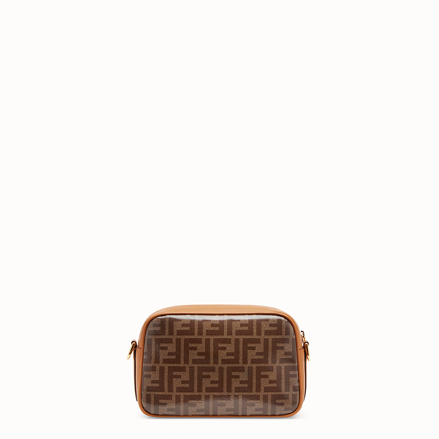 FENDI MINI CAMERA CASE - Brown canvas bag - view 3 detail