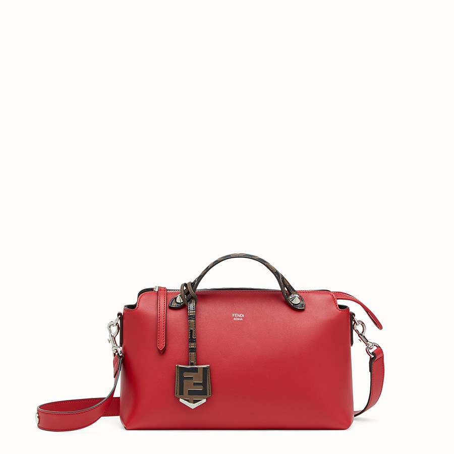 FENDI BY THE WAY REGULAR - Red leather Boston bag - view 1 detail