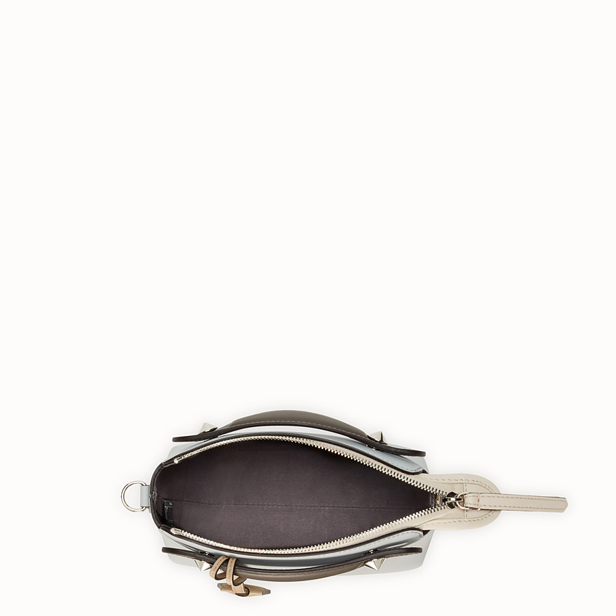 FENDI BY THE WAY MINI - Small grey leather Boston bag - view 4 detail