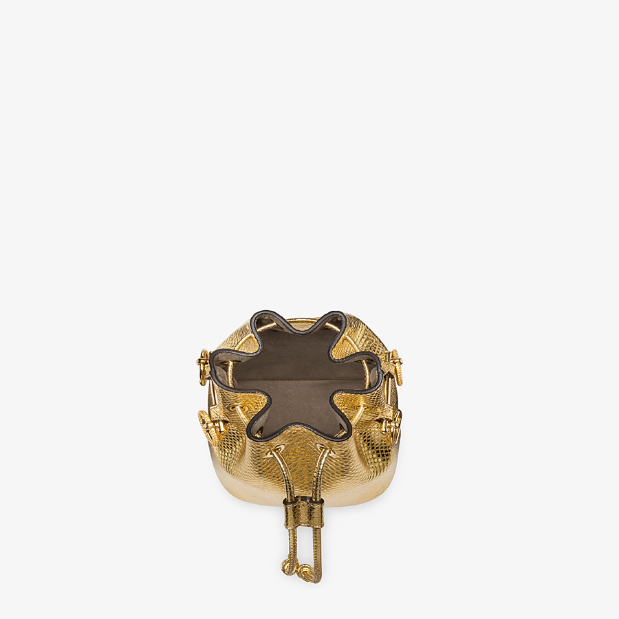 FENDI MON TRESOR - Gold colored karung mini-bag - view 4 detail