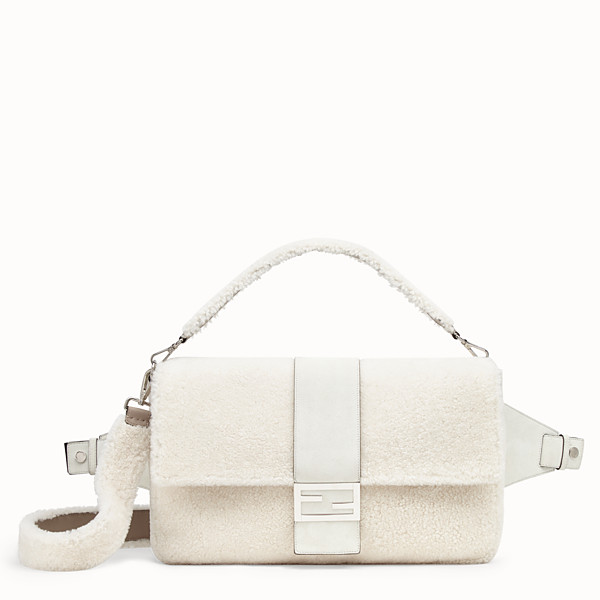 FENDI BAGUETTE - White sheepskin bag - view 1 small thumbnail