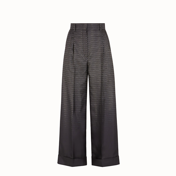 FENDI TROUSERS - Trousers in black twill - view 1 small thumbnail