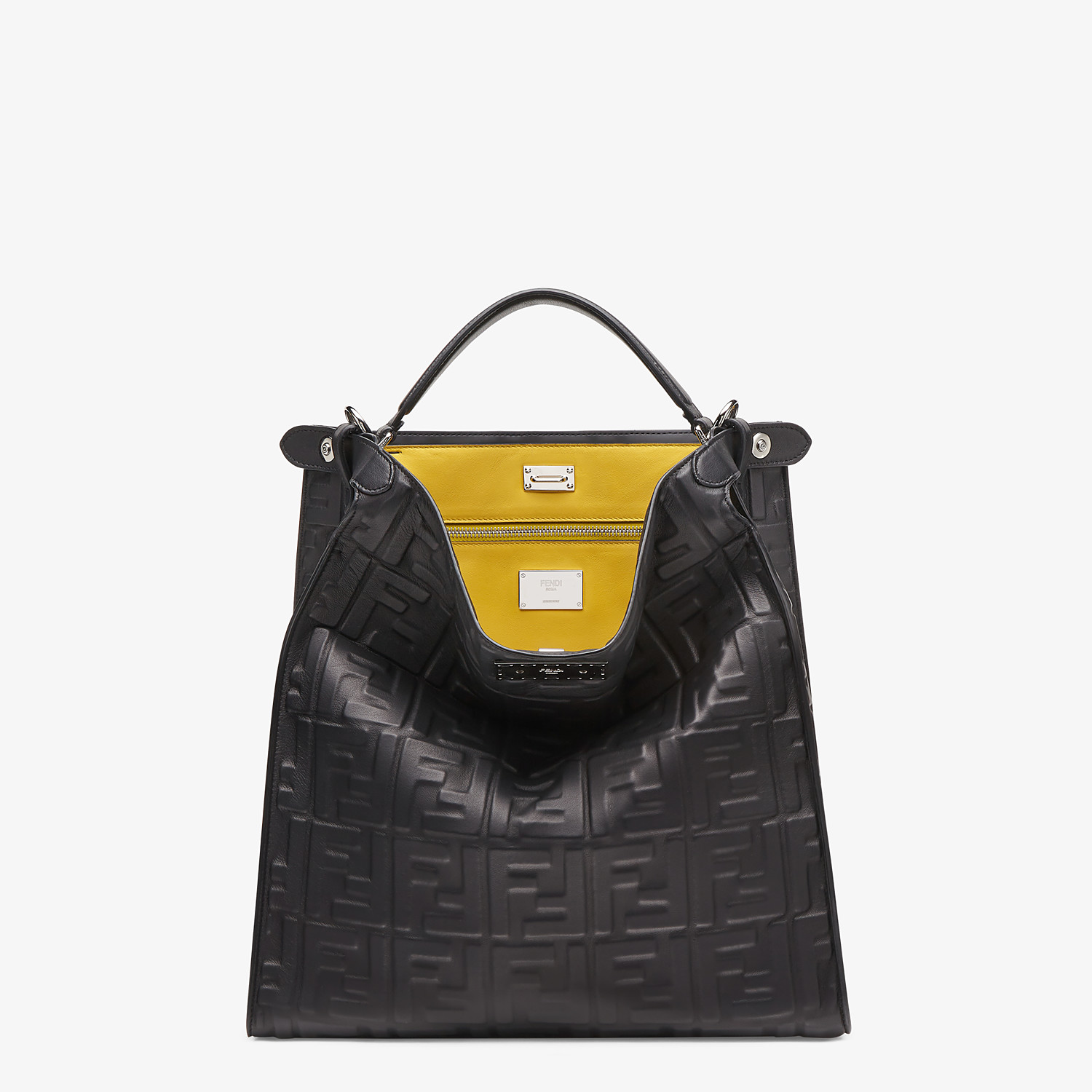 FENDI PEEKABOO X-LITE FIT - Black nappa leather bag - view 2 detail