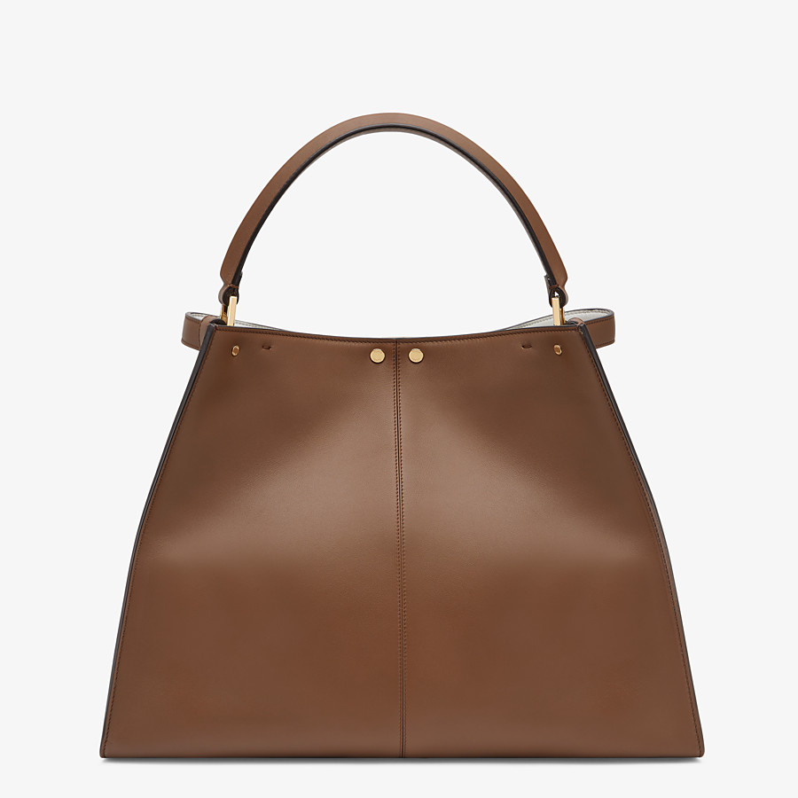 FENDI PEEKABOO X-LITE LARGE - Brown leather bag - view 4 detail