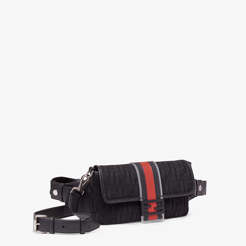 FENDI BAGUETTE - Black tech fabric bag - view 2 detail