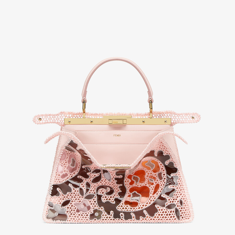 FENDI MEDIUM PEEKABOO ISEEU - Pink lace bag - view 3 detail