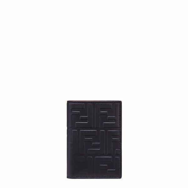 FENDI VERTICAL CARD HOLDER - Black calf leather wallet - view 1 small thumbnail