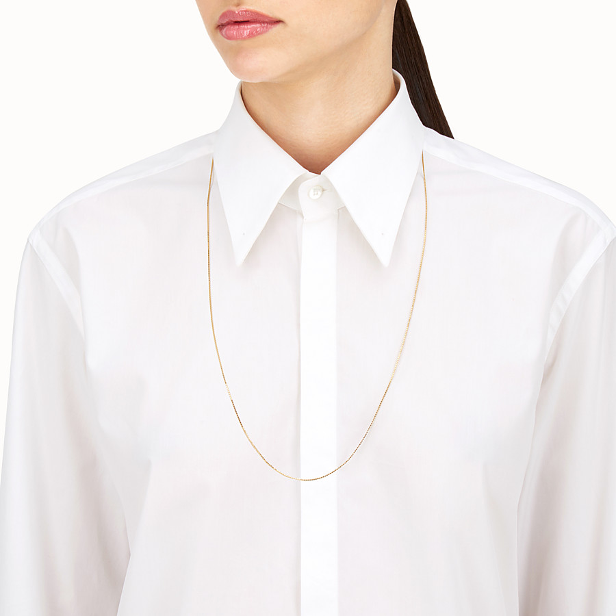 FENDI NECKLACE - Long gold-finish metal necklace - view 2 detail