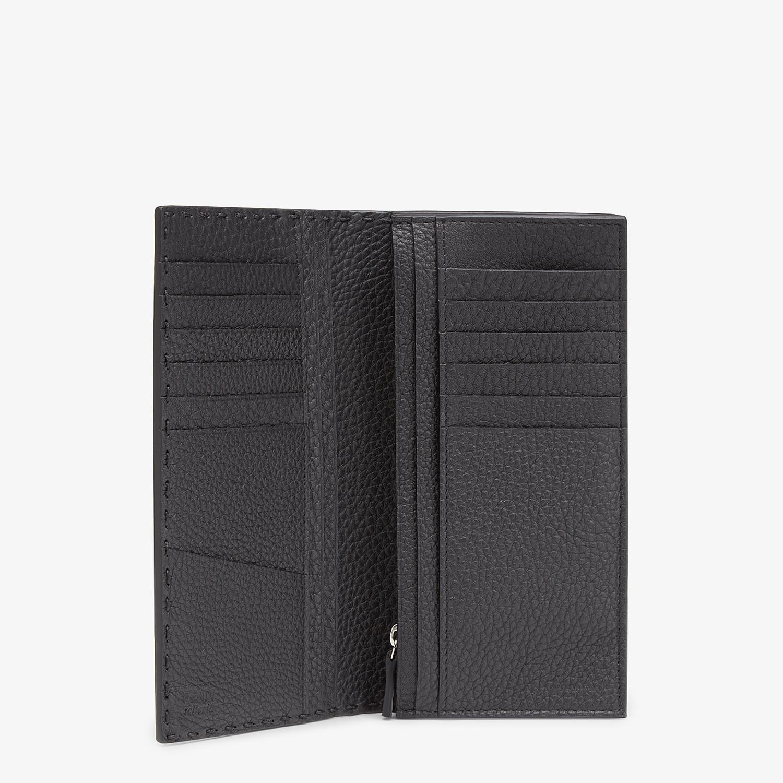 FENDI WALLET - Continental black Roman leather - view 3 detail
