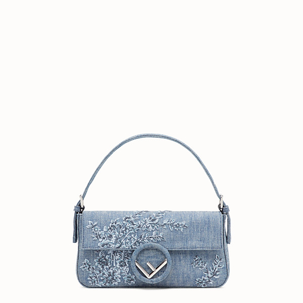 FENDI BAGUETTE - Blue denim bag - view 1 small thumbnail